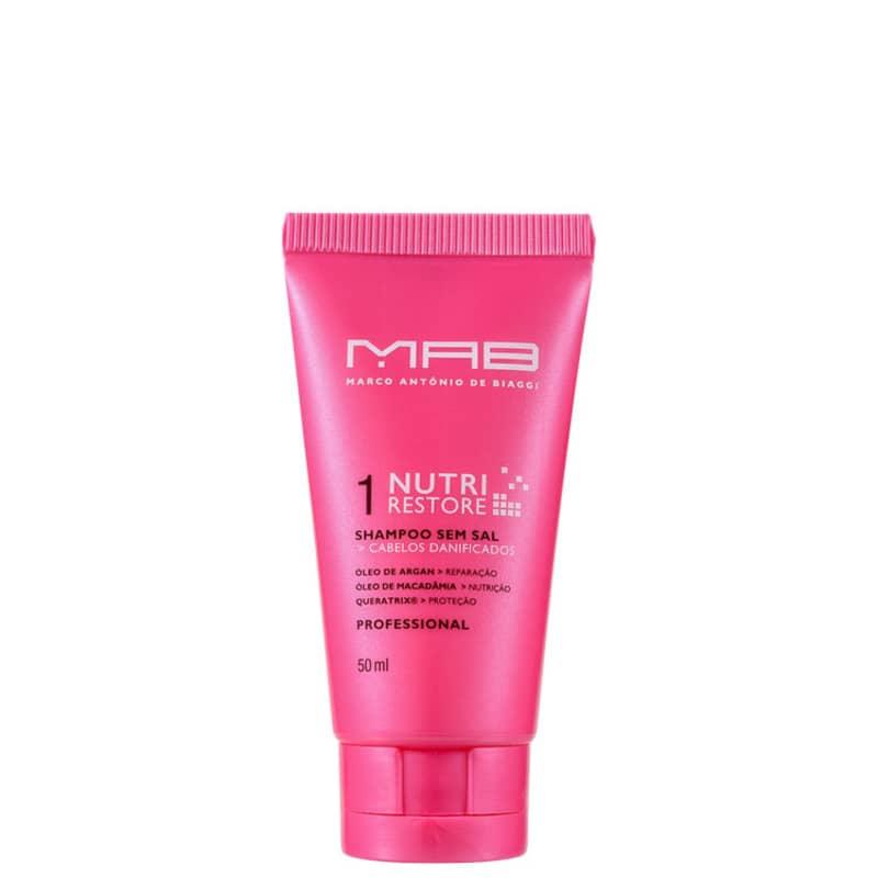 MAB Marco Antônio de Biaggi Nutri Restore - Shampoo sem Sal 50ml