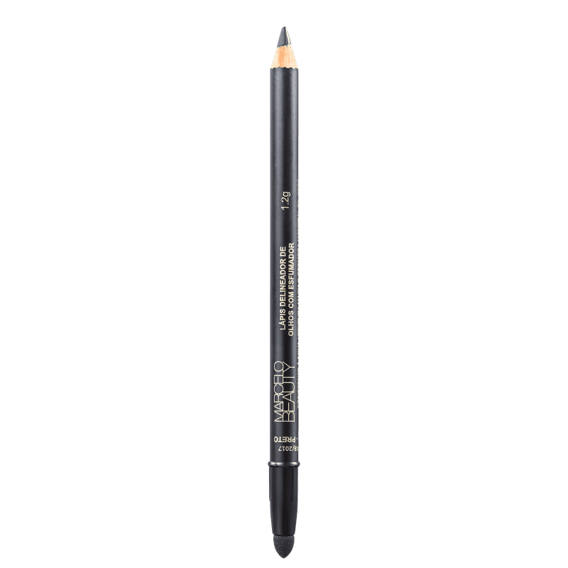 Marcelo Beauty Delineador Com Esfumador Preto - Lápis de Olho 1,2g