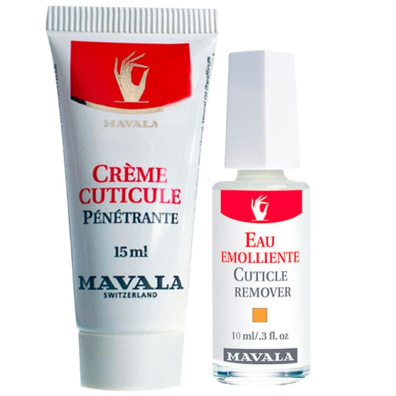 Kit Mavala Cuticle Cream & Remover - Hidratante 15ml + Removedor 10ml