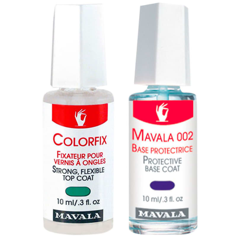 Kit Mavala Protective Base Coat & Colorfix - Base 10ml + Base Fixadora 10ml