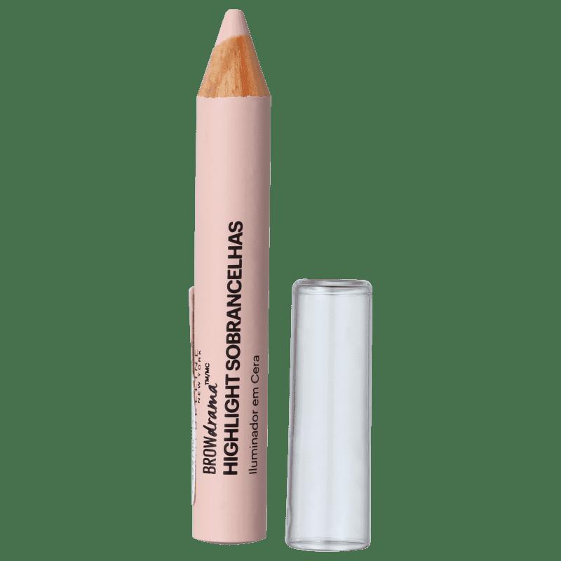 Maybelline Brow Drama Iluminador de Sobrancelhas Nude Aveludado - Lápis para Sobrancelha 1,5g