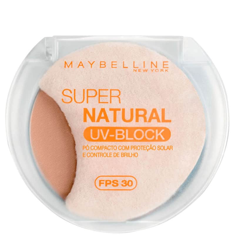 Maybelline Super Natural Uv Block 2 Escuro Fps 30 - Pó Compacto 10,5g