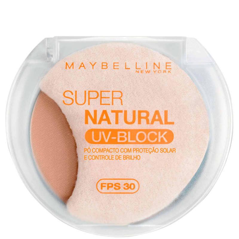Maybelline Super Natural Uv Block 02 Natural Fps 30 - Pó Compacto 10,5g