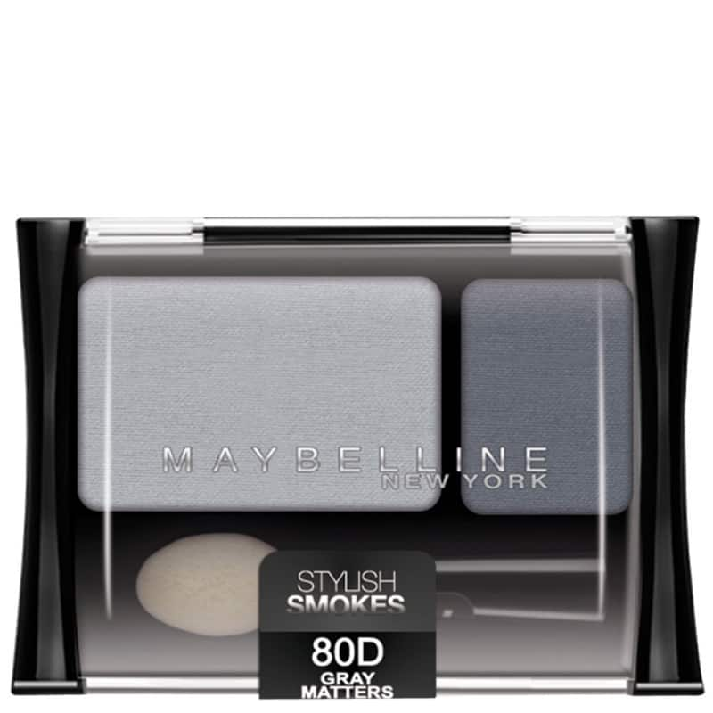 Maybelline Expertwear Eyeshadow 80 Grey Matters - Duo de Sombras 2,4g