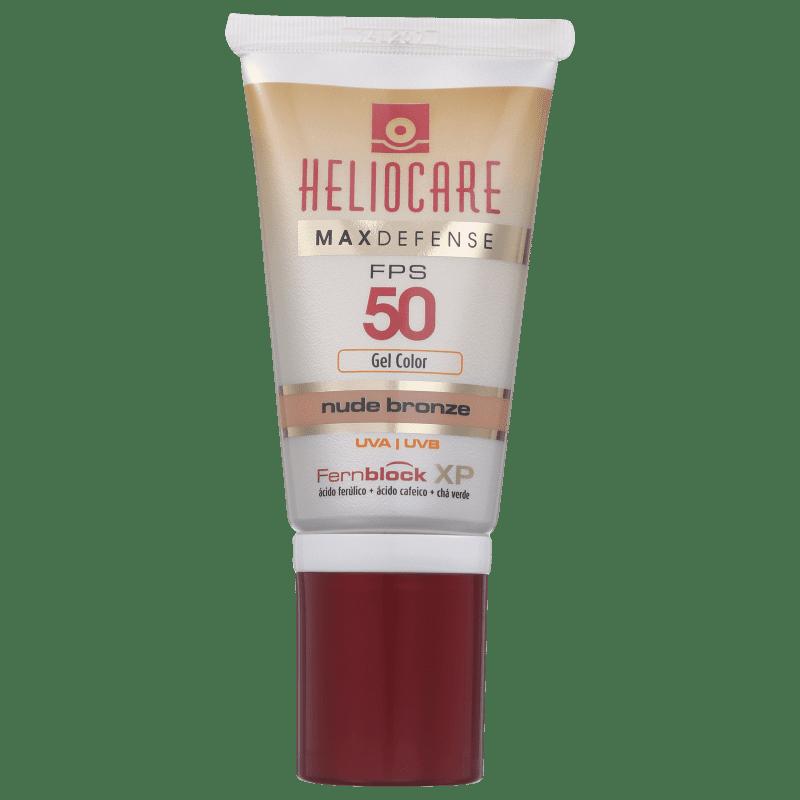 Melora Heliocare Max Defense Gel Creme Color Nude Bronze FPS 50 - Protetor Solar com Cor 50g