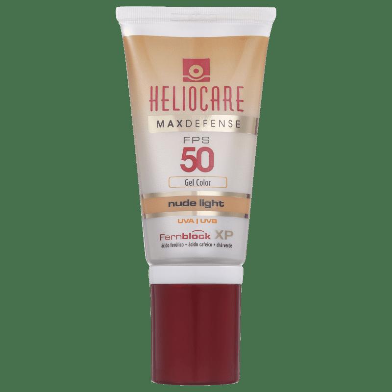 Melora Heliocare Max Defense Gel Creme Color Nude Light FPS 50 - Protetor Solar com Cor 50g