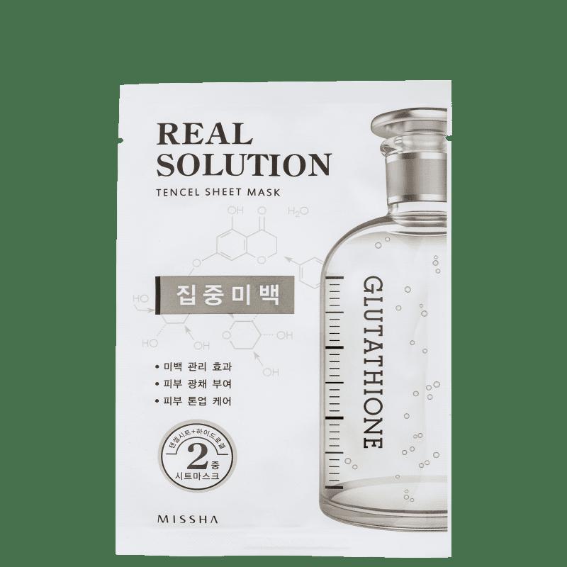 Missha Real Solution Pure Whitening - Máscara Clareadora 25g