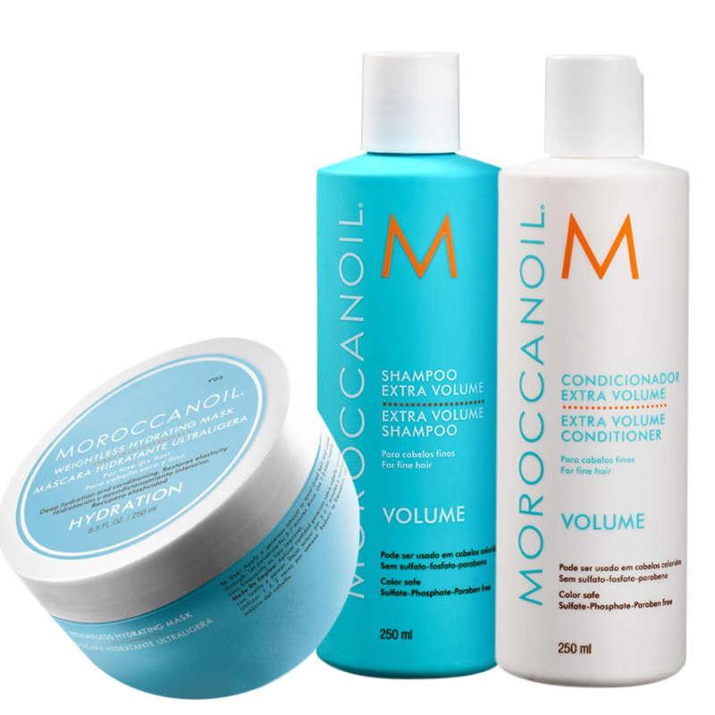Kit Moroccanoil Volume Extra Hydrating (3 Produtos)