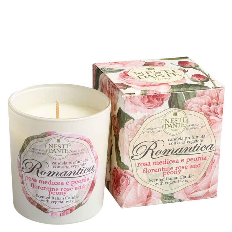 Nesti Dante Romantica Rosa Florentina e Peônia - Vela Perfumada 160g
