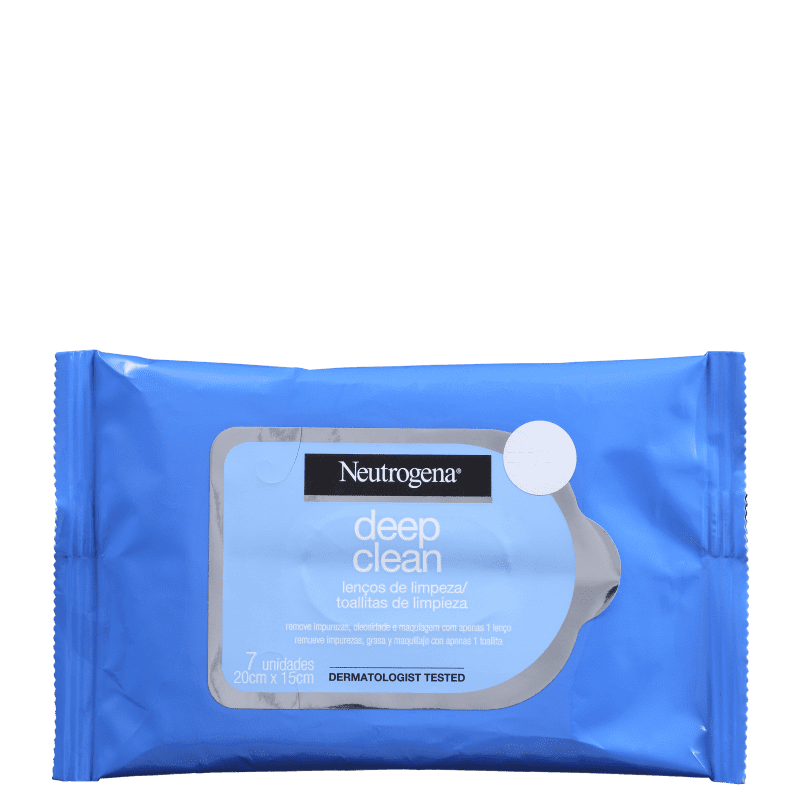 Neutrogena Deep Clean - Lenço Demaquilante (7 unidades)