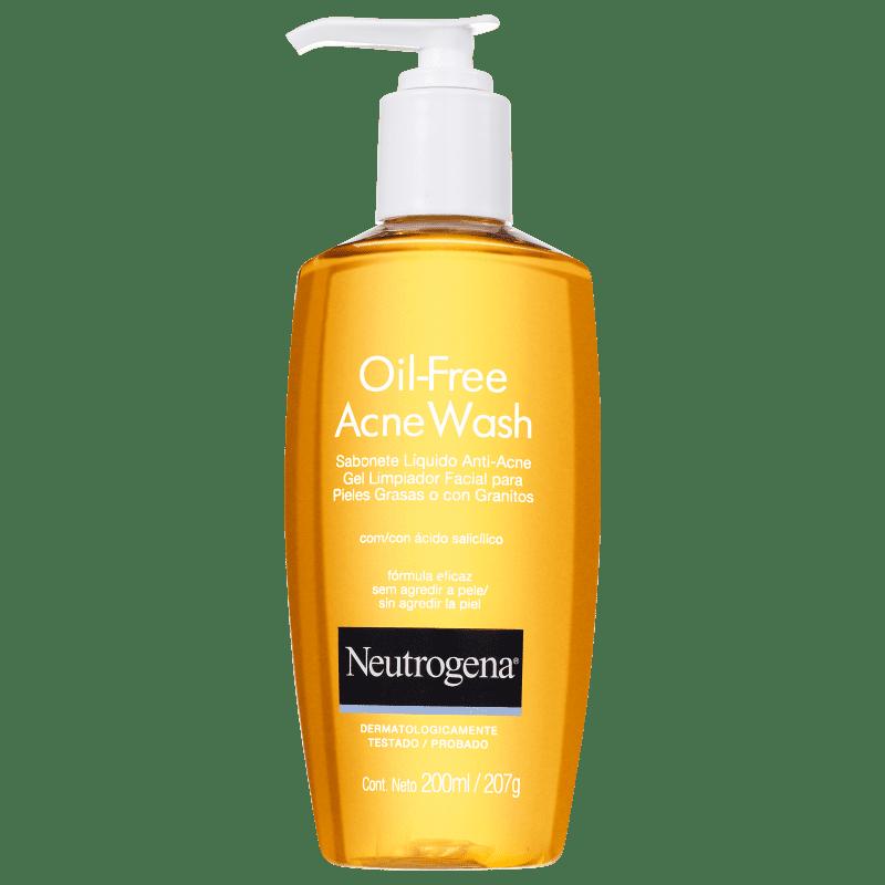 Neutrogena Oil Free Acne Wash - Sabonete Líquido para Acne 200ml