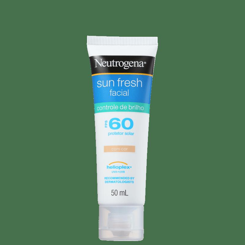 Neutrogena Sun Fresh Controle de Brilho FPS 60 - Protetor Solar com Cor 50ml