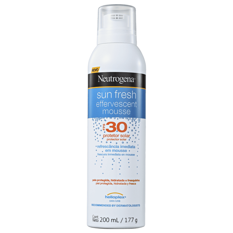 Neutrogena Sun Fresh Effervescent FPS 30 - Protetor Solar em Mousse 200ml