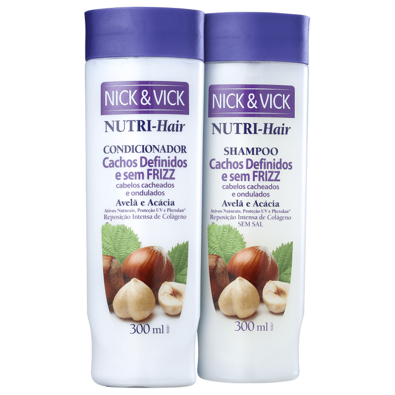 Kit Nick & Vick NUTRI-Hair Cachos sem Frizz (2 Produtos)
