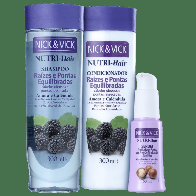 Kit Nick & Vick NUTRI-Hair Equilíbrio e Disciplina (3 Produtos)