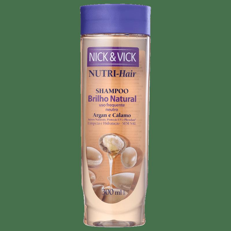 Nick & Vick NUTRI-Hair Brilho Natural - Shampoo sem Sal 300ml