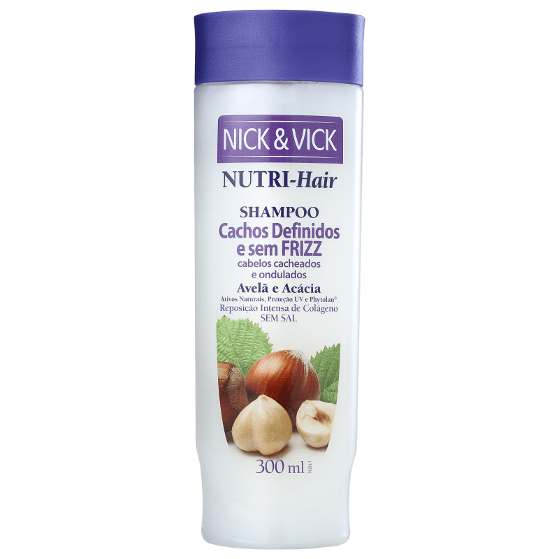 Nick & Vick NUTRI-Hair Cachos Definidos e Sem Frizz - Shampoo 300ml