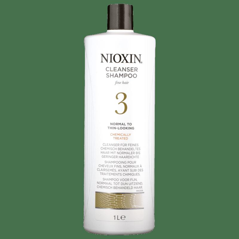 Nioxin System 3 Cleanser - Shampoo Antiqueda 1000ml