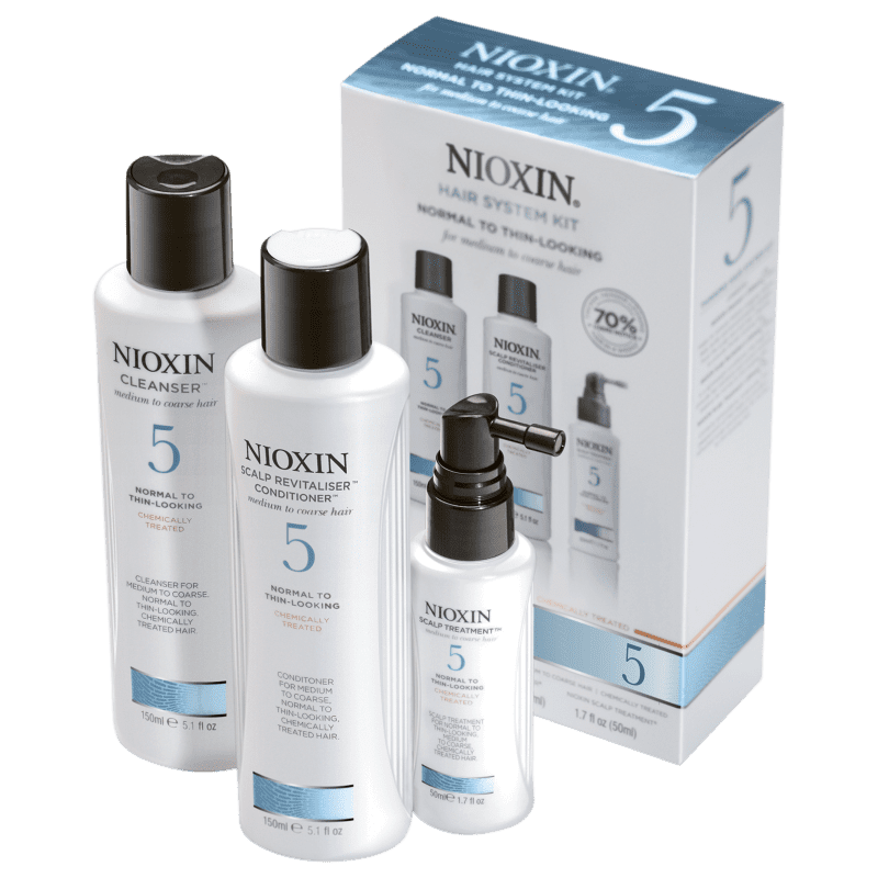 Kit Nioxin System 5 Trial (3 Produtos)