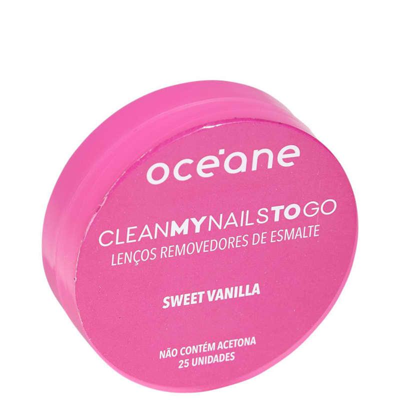 Océane Clean My Nails To Go Sweet Vanilla - Lenço Removedor de Esmalte (25 unidades)