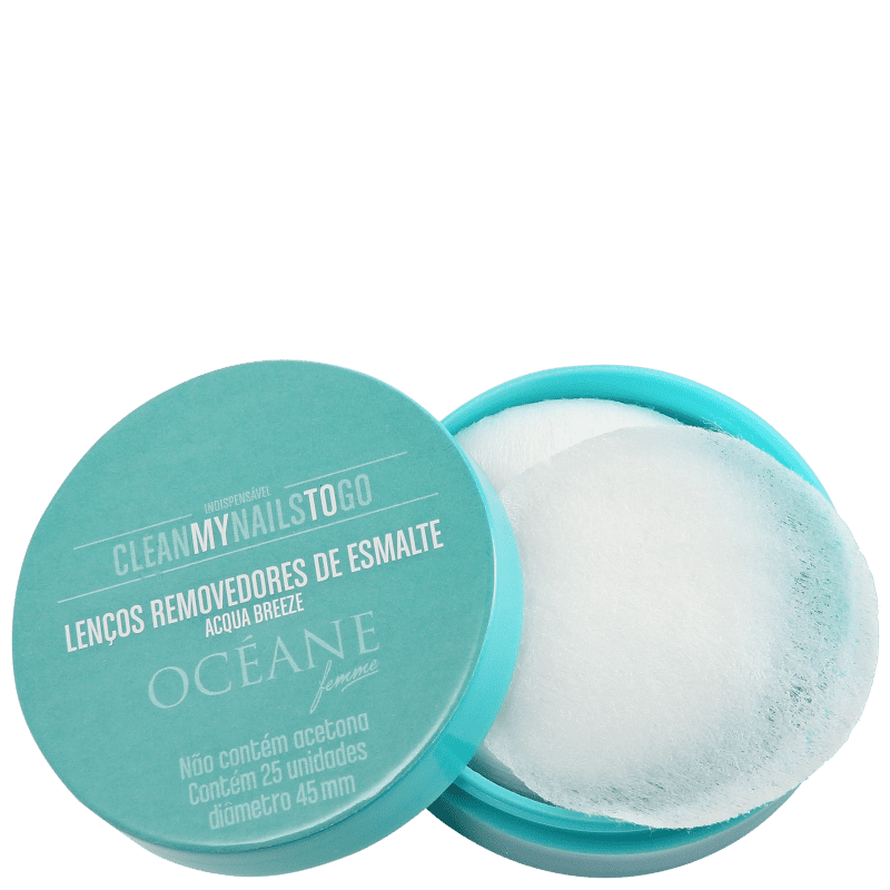 Clean My Nails To Go Acqua Breeze - Lenço Removedor de Esmalte (25 Unidades)