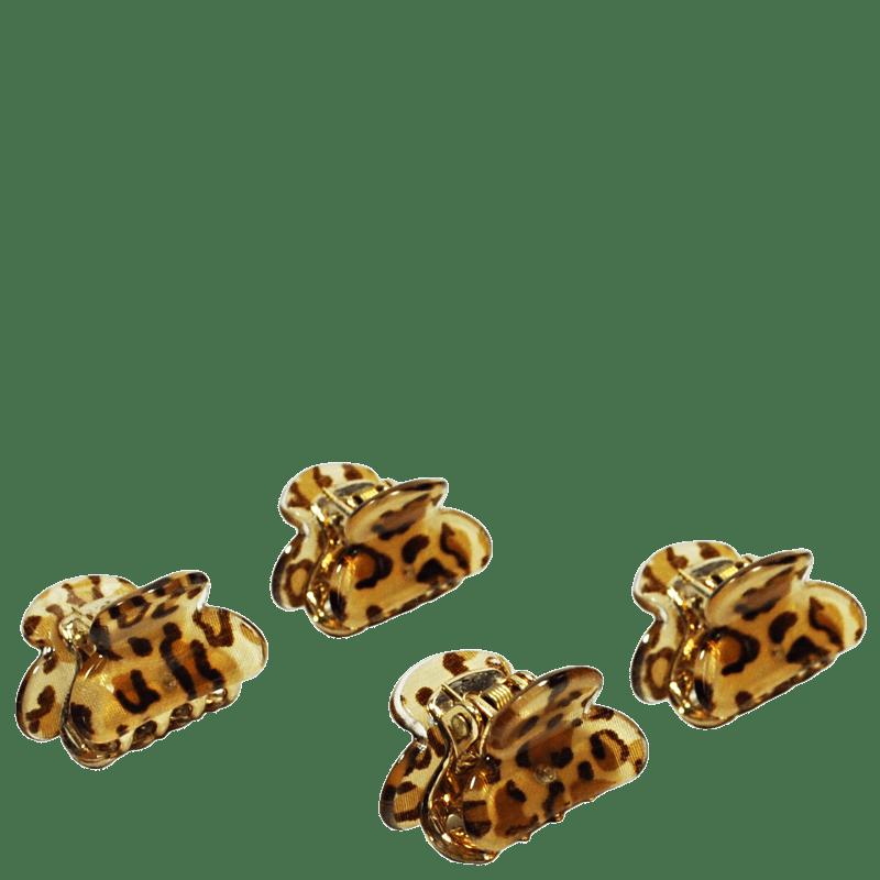 Océane Complete My Look 199 Animal Print - Presilha de Cabelo (4 Unidades)