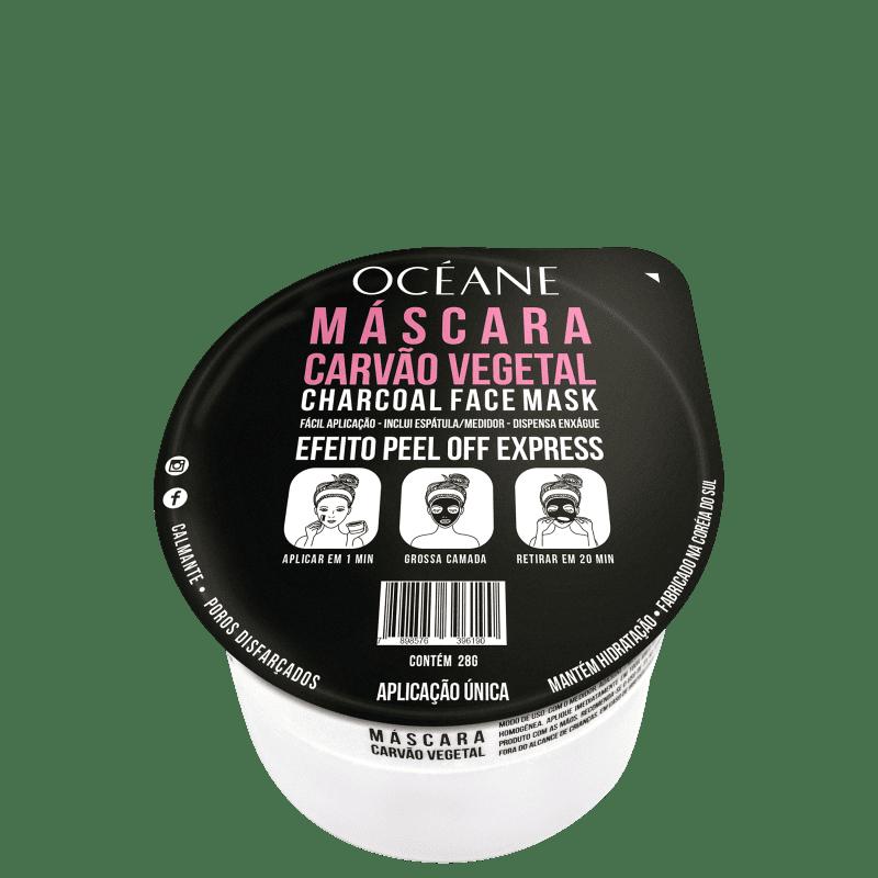 Océane Máscara Carvão Vegetal - Máscara Facial 28g
