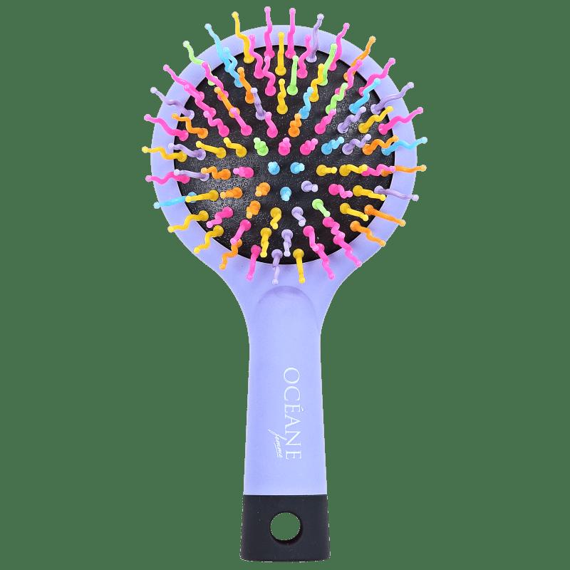 Rainbow Brush Lilás - Mini Escova de Cabelo