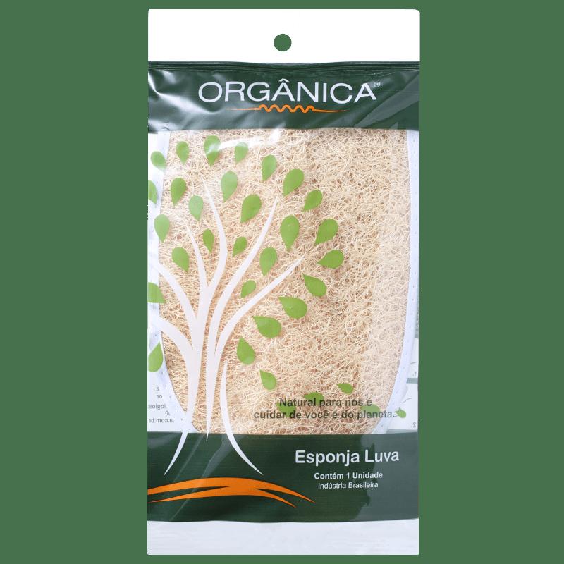 Orgânica Esponja Luva Meio Oval - Esponja de Banho (1 unidade)