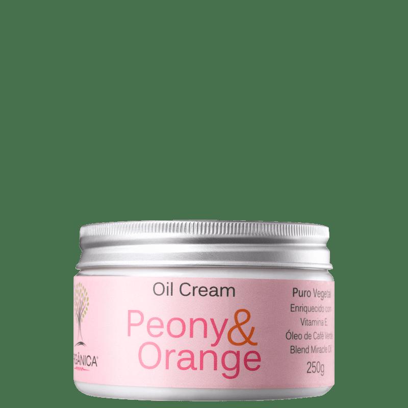Orgânica Oil Cream Peônia & Laranja - Hidratante 270ml