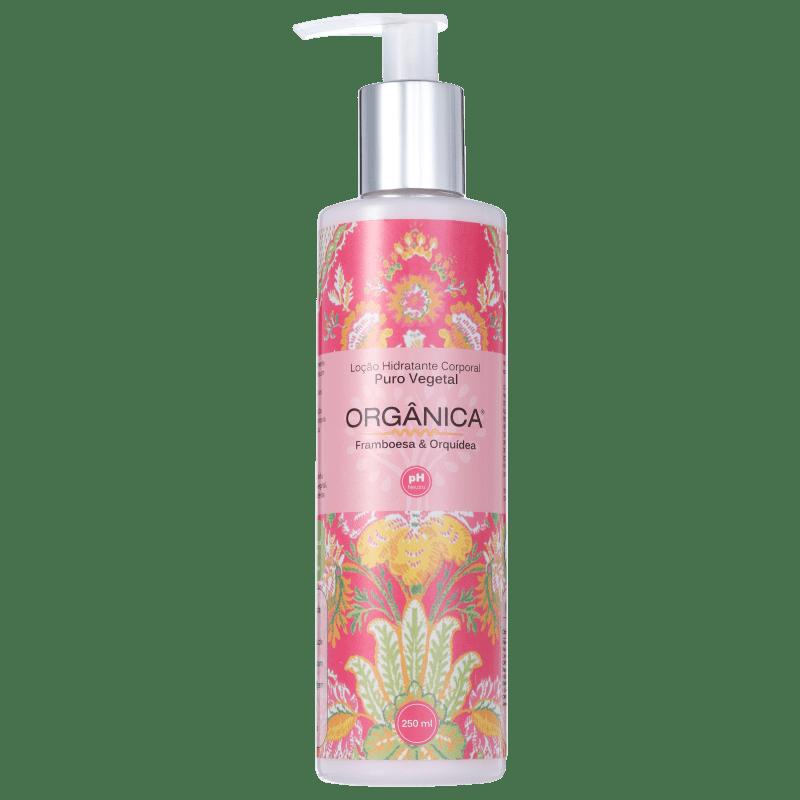 Orgânica Puro Vegetal Framboesa e Orquídea - Loção Hidratante Corporal 250ml