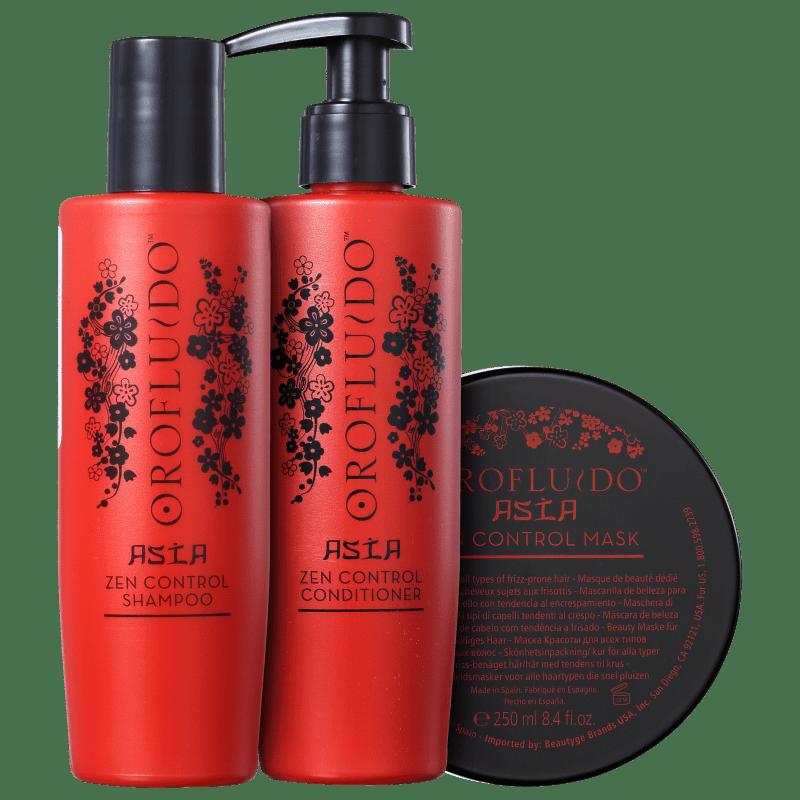 Kit Orofluido Asia Zen Control Hidratação e Força (3 Produtos)