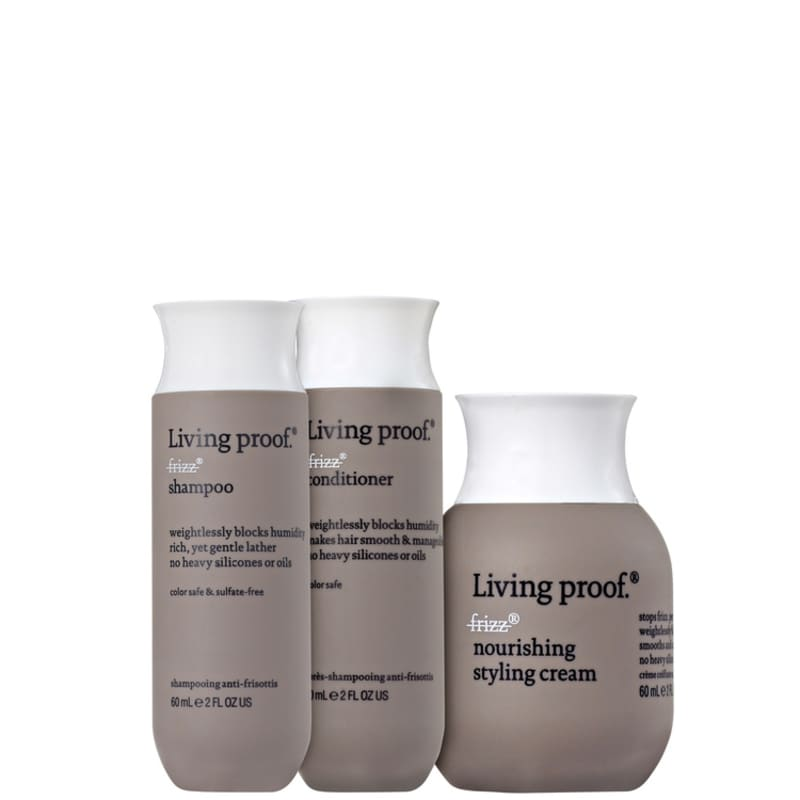 a0b0843bb Living Proof No Frizz Nourishing Mini Trio Kit - Beleza na Web