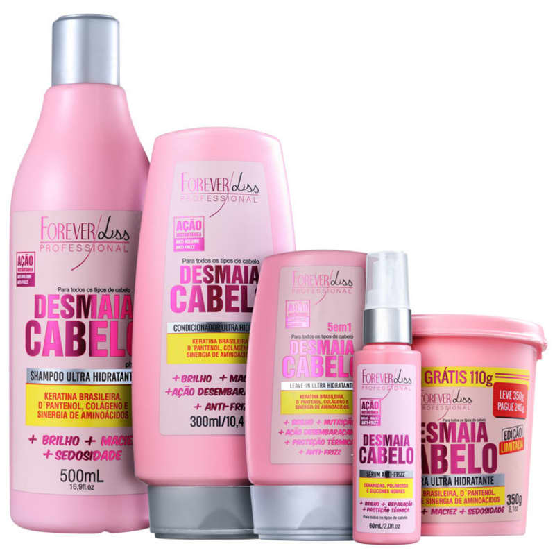 28ae1cfbc Kit Forever Liss Professional Desmaia Cabelo Completo (5 Produtos)
