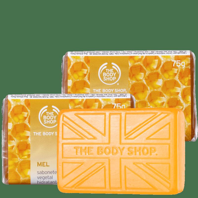 Kit The Body Shop Mel - Sabonetes em Barra 3x75g