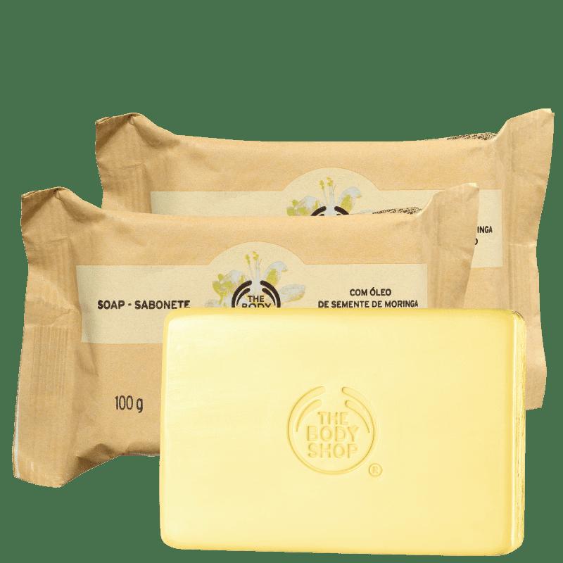 Kit The Body Shop Moringa - Sabonete em Barra 3x100g