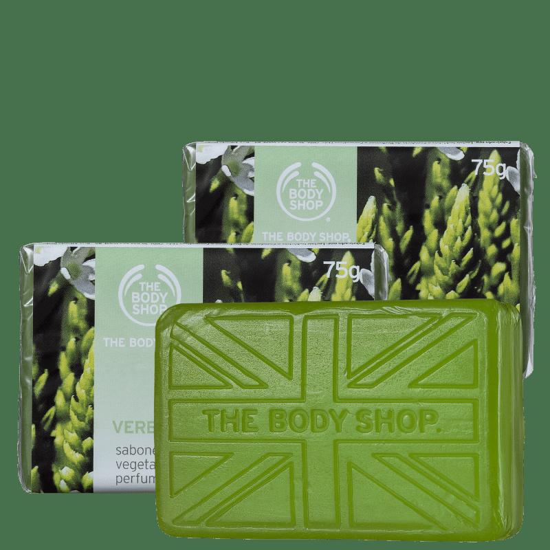 Kit The Body Shop Verbena - Sabonetes em Barra 3x75g