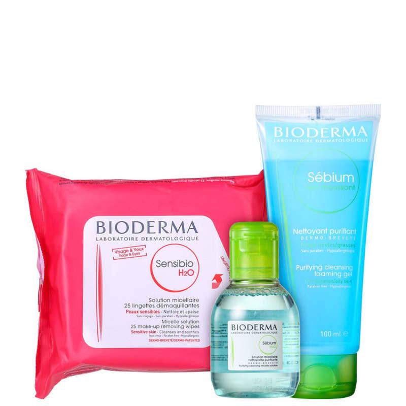 Kit Bioderma Sensibio Sébium H2O (3 Produtos)