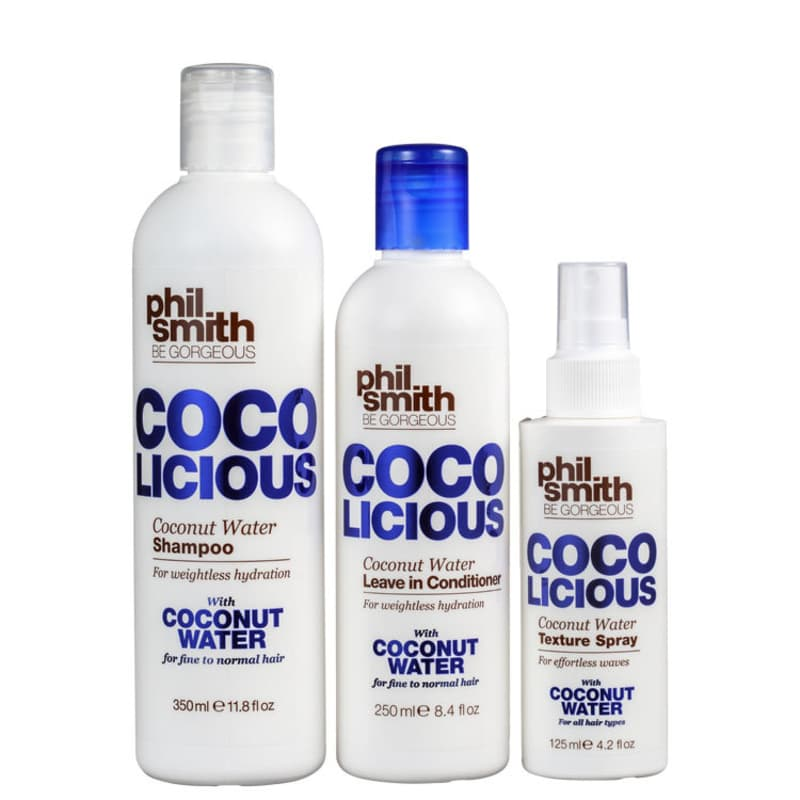 Kit Phil Smith Coco Licious Coconut Water Trio (3 Produtos)