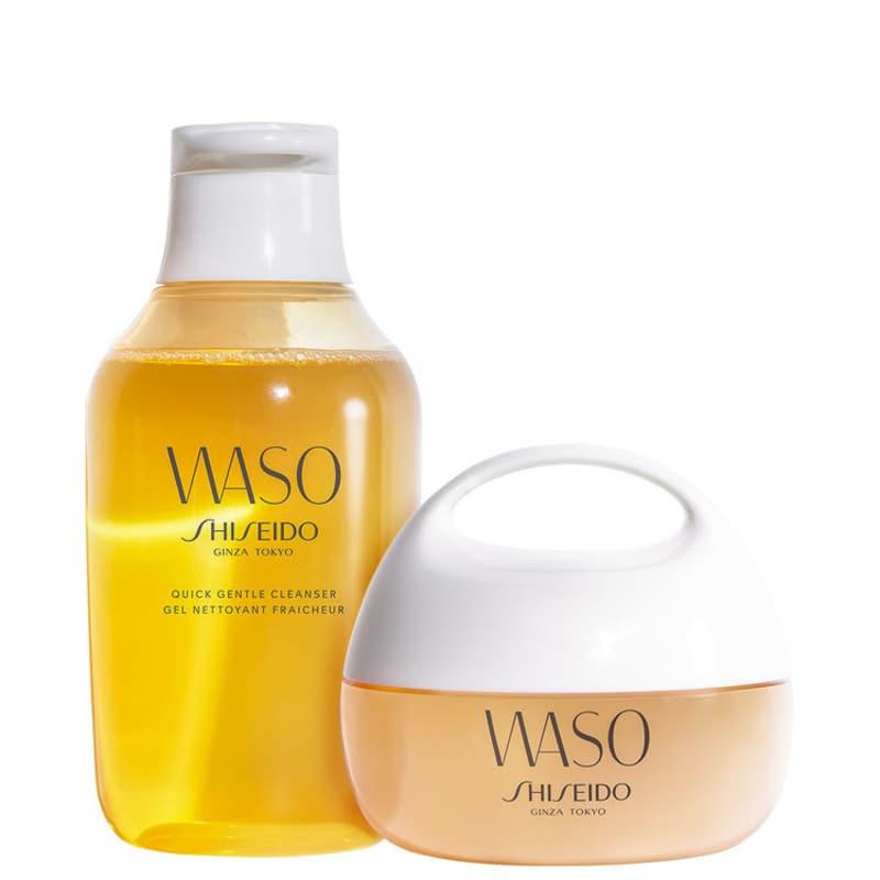 Kit Shiseido Waso Cleanser Hydrating (3 Produtos)