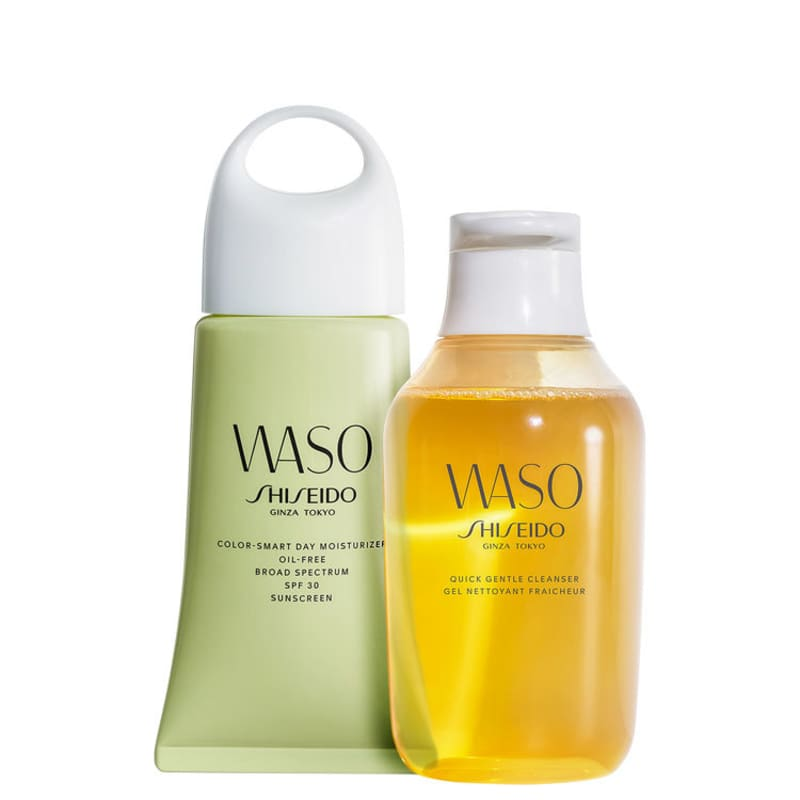 Kit Shiseido Waso Cleanser Color Oil Free (2 Produtos)
