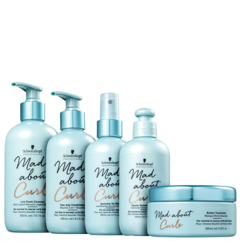 Kit Schwarzkopf Professional Mad About Curls Full Low (5 Produtos)