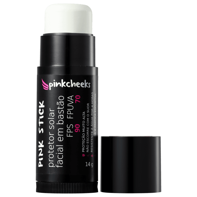 Pink Cheeks Pink Stick 5KM FPS 90 - Protetor Solar Facial 14g