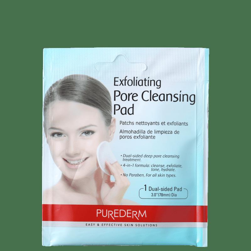Purederm Exfoliating Pore Cleansing Pads - Lenço Esfoliante para Limpeza Profunda (1 unidade)
