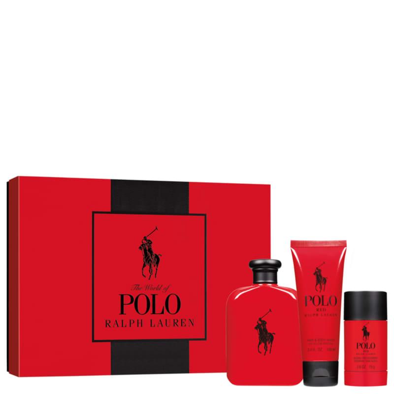 Conjunto Polo Red Ralph Lauren Masculino - Eau de Toilette 125ml + Gel de Banho 100ml + Desodorante 75ml