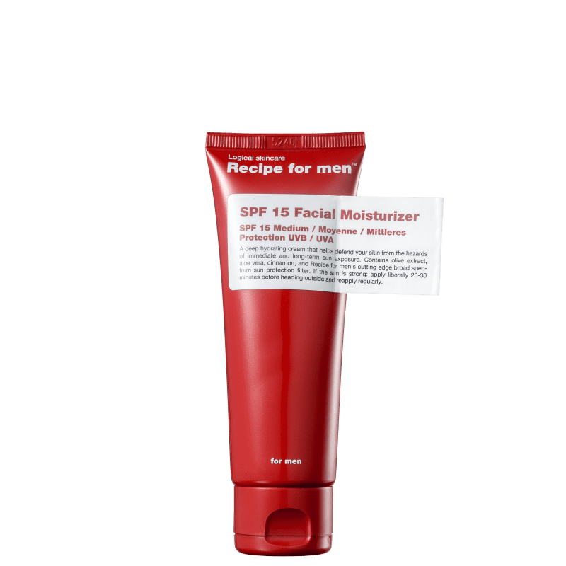 Recipe for Men FPS 15 - Hidratante Facial 75ml