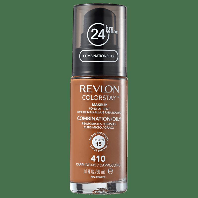Revlon ColorStay Pele Mista e Oleosa 410 Cappuccino - Base Líquida 30ml