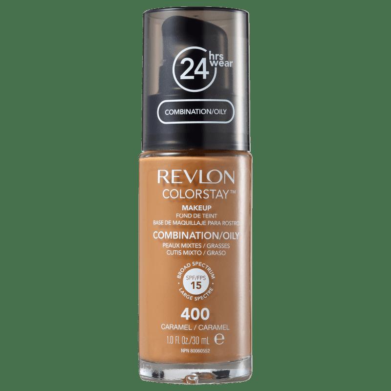 Revlon ColorStay 24 Horas Pele Mista à Oleosa FPS15 400 Caramel - Base Líquida 30ml