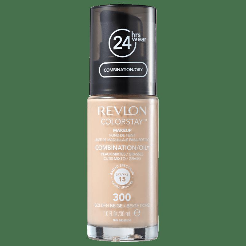 Revlon ColorStay 24 Horas Pele Mista à Oleosa FPS15 300 Golden Beige - Base Líquida 30ml
