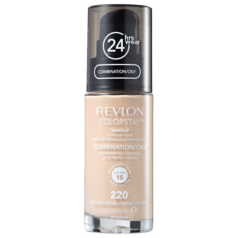 Revlon ColorStay 24 Horas Pele Mista à Oleosa FPS15 220 Natural Beige - Base Líquida 30ml